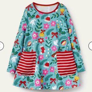NWT mini boden Jersey festive Pocket tunic
